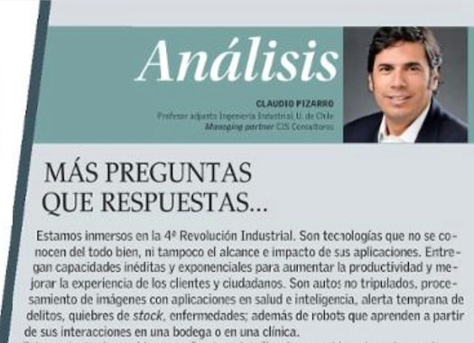 Nueva columna de Claudio Pizarro en El Mercurio