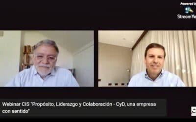 """Webinar """"Propósito, Liderazgo y Colaboración – CyD, una empresa con sentido"""""""